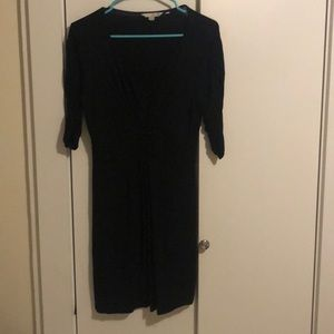 Boden Black Dress with Ruching